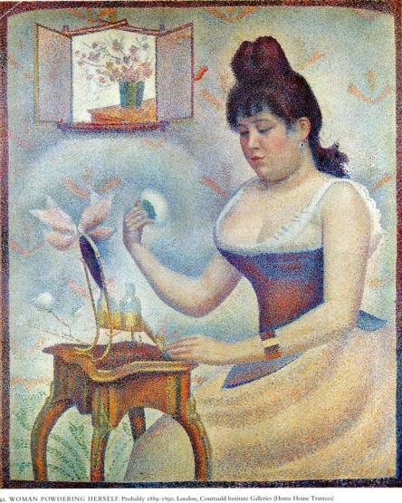 young woman powdering herself 1890 Georges Seurat