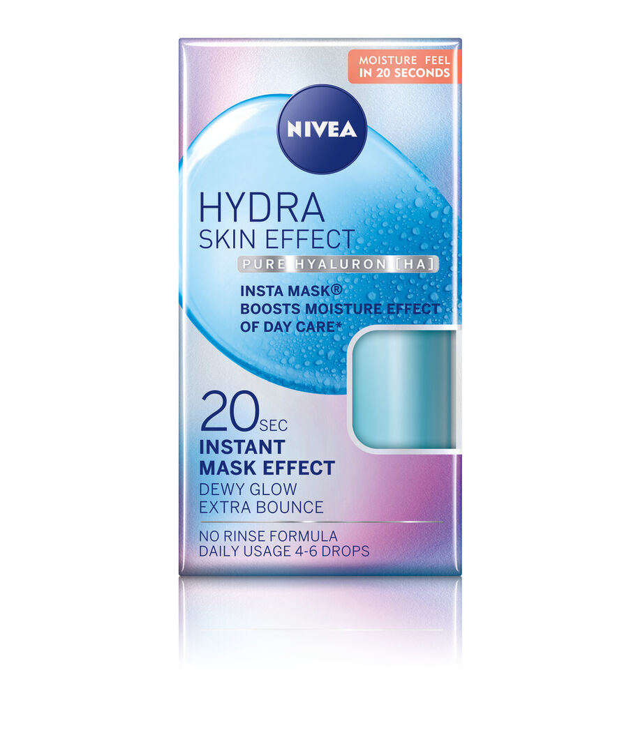 INT 94203 NIVEA Face Care Hydra Skin Effect Power Instant Mask 100ml Fobo layer Screen